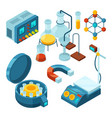 science isometric chemical supporting laboratory vector image
