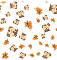 seamless pattern of cat and dog vector image