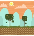 seamnless forest garden game background vector image vector image