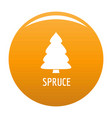 spruce tree icon orange vector image vector image