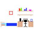 student dorm room vector image vector image