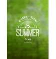 Summer biggest event label logo on the background vector image