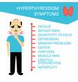 symptoms of hyperthyroidism in men vector image