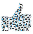thumb up icon shape vector image vector image
