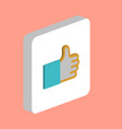 thumbs up like computer symbol vector image