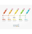 Timeline Infographic Pencil pin vector image