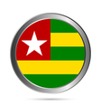 Togo flag button vector image vector image