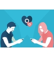 Valentine is day at a distance vector image vector image