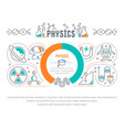 website banner and landing page physics vector image vector image