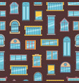 window flat icons background or pattern vector image vector image