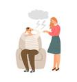 woman abuse behavior vector image vector image