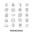 knowledge learning manader book education vector image