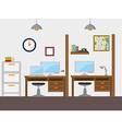 Work office design vector image