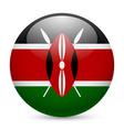 Round glossy icon of kenya vector image