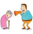 deaf grandma vector image