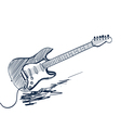 electric guitar sketch vector image