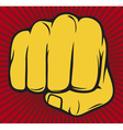 Clenched fist poster vector | Price: 1 Credit (USD $1)