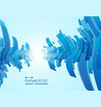 abstract of gradient blue futuristic pattern vector image vector image