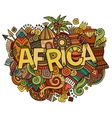 africa hand lettering and doodles elements