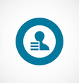 application bold blue border circle icon vector image vector image