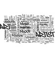 art myths debunked text word cloud concept vector image vector image