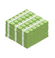 big stacked pile of cash vector image vector image