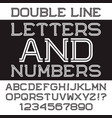 black white letters and numbers vector image