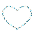 Blue heart ribbon EPS 10 vector image
