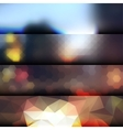 Blur lights city background vector image vector image