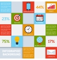 Business infographic color squares vector image vector image