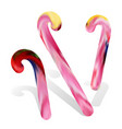 candy cane set vector image