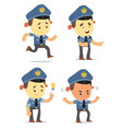 cartoon policemen vector image