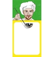 Chef Offers to Get Acquainted With the Menu vector image vector image