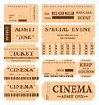 cinema tickets vector image vector image