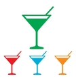 Coctail sign Colorfull set vector image vector image