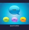 collection of isolated speech bubbles on vector image vector image