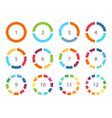 color infographics elements parts circle vector image