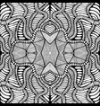coloring page abstract pattern with maze of vector image vector image