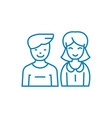 couple in love linear icon concept couple in love vector image