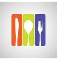Cutlery color vector image vector image