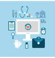 desktop medic vector image