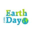 Earth Day in blue vector image vector image
