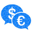 euro transaction messages grunge icon vector image vector image