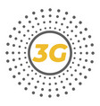 flat 3g logo with dots area around vector image vector image