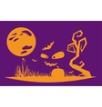 Halloween night flat style vector image vector image