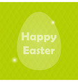 Happy Easter Greeting Card with Egg and blured vector image