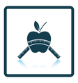 Icon of Apple with measure tape vector image vector image