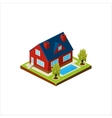 Isometric icon representing modern house with vector image vector image