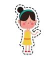 kawaii girl icon vector image vector image