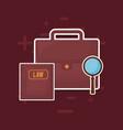 law book and portfolio icon vector image vector image